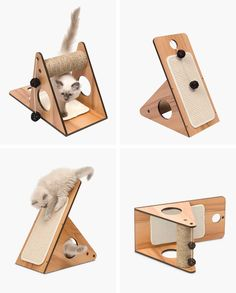 - The Walnut Vesper Play Center is a small cat adventure playground. This piece of cat furniture can be used in various positions for more fun. Learn more! Heated Outdoor Cat House, Diy Cat Toys, Cat Towers, Hamster, Wooden Cat, Cat Scratcher, Cat Room, Outdoor Cats, Pet Furniture