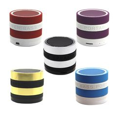 HotContrast Color Wireless Bluetooth Mini Portable Metallic Speaker High Quality MP3 Player for Phone Tablet  PC With Mic Radio #Affiliate