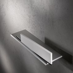 Keuco Edition 400 Shower Shelf with Glass Wiper . Keuco New Edition 400 Shower Shelf with White Integrated Glass Wiper in Aluminium silver anodized finish. Shower Shelves, Bathroom Shelves, Bathroom Organization, Bathroom Inspo, Bathroom Inspiration, Heating And Plumbing, Basket Shelves, Baskets, Master Bedroom Design
