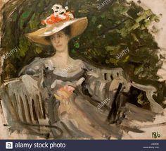 Maria Tenisheva by K.Korovin (1899, Smolensk Art gallery Stock Photo, Royalty Free Image: 140206234 - Alamy