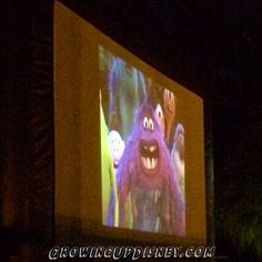 Movies by the pool at Old Key West, Disney World, Monsters University