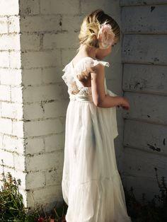 Flowergirl dresses  Tea Princess Ivy Dress; cute hair