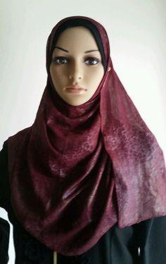 Shawl, Hijab, Islamic, women, scarf rectangular multi color leopardprint/ silver #Hijab