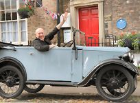 The original Austin 7 car used in the TV Series All Creatures Great and Small.  Visit the world of James Herriot in Thirsk