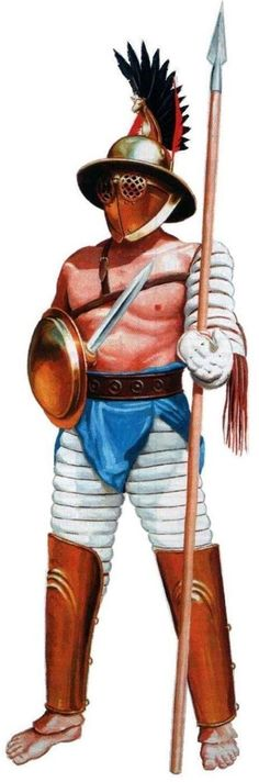 Hoplomachus Types Of Gladiators, Roman Gladiators, Gladiator Armor, Marshal Arts, Castor And Pollux, Roman Warriors, Pompeii And Herculaneum, Classical Antiquity, Roman History