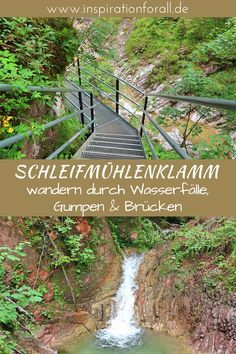 Schleifmühlenklamm: Wanderung durch Wasserfälle, Gumpen & Brücken The Schleifmühlenklamm in Bavaria is a nice destination, especially with children. Hiking through waterfalls, pools and bridges is guaranteed to make everyone wonder. Pool Bridge, Road Trip Hacks, Backpacking Europe, Italy Vacation, Culture Travel, Romantic Travel, Family Activities, Germany Travel, Van Life
