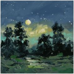 MOONLIGHT, NOCTURNE by TOM BROWN, painting by artist Tom Brown