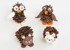 How to create an autumn pine cone hedgehog Pinecone Crafts Kids, Pine Cone Crafts, Autumn Crafts, Pumpkin Crafts, Nature Crafts, Christmas Crafts, Toddler Crafts, Preschool Crafts, Toddler Activities