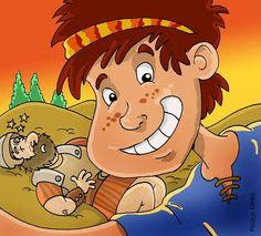 Davi derrota o gigante Golias.