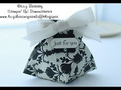 Directions on how to make this cute fortune cookie style gift/treat pouch (Using Stampin' Up! products)