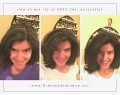How to get rid of GRAY hair naturally!