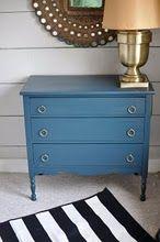 DIY blue dresser