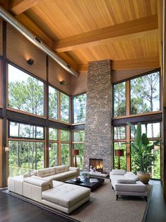 Modern Stack Stone Fireplace Design, Pictures, Remodel, Decor and Ideas - page 24