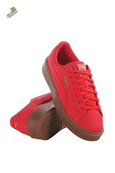 76241edc20 364847-01 WOMEN BASKET PLATFORM WVN PUMA RED - Puma sneakers for women  ( Amazon Partner-Link)