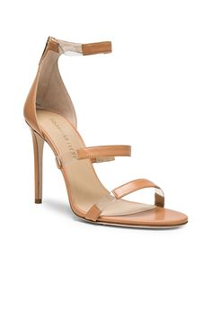 352b60b154e Image 2 of Tamara Mellon Leather Frontline Heels in Nude