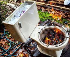 DIY: Ein Klo als Grill und Kühler in einem   Dressed Like Machines
