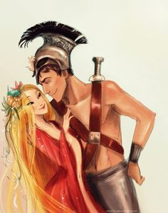 Love and War (Aphrodite and Ares)  - two grannies and an ax tumblr