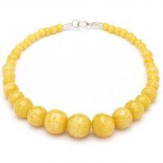 Splendette Carved Fakelite Beads Yellow