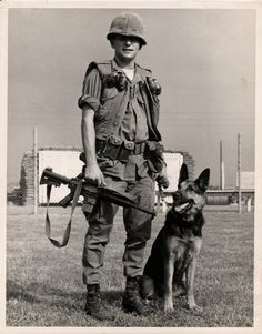 This image was on the front cover of AMVET magazine showing John Langley and his dog. Photo provided