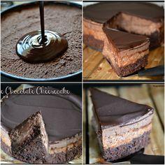 Copycat cheesecake factory triple chocolate cheesecake