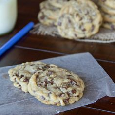 Perfect Chocolate Chip Cookies | Dinners, Dishes, and Desserts | It took more attempts than I care to admit, but I finally found my new go-to chocolate chip cookie recipe.  I have made this recipe twice now, and both times they were soft, chewy, and perfect for days later.
