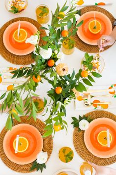 Orange You Glad Party by Ashley Rose of Sugar & Cloth Orange Party, Orange Wedding, Deco Table, A Table, Party Decoration, Table Decorations, Dinner Party Invitations, Festa Party, Party Party