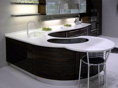 Plan de travail / Évier en pierre acrylique Pure Acrylic Stone - LEGNOPAN bancada curva