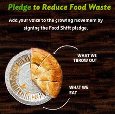 Take the pledge to REDUCE FOOD WASTE! #foodshift