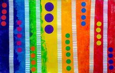 Techniques and astuces_Lignes and rainbow sky Elements And Principles, Elements Of Art, School Murals, Art School, Artists For Kids, Art For Kids, Art Montessori, Art Mat, Ecole Art