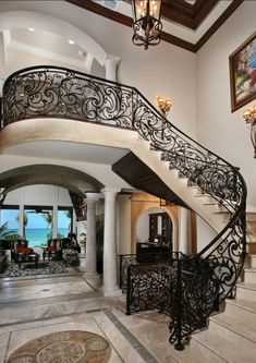 Art Nouveau Staircase Design- Luxury Interiors ~Live The Good Life - All about Wealth & Luxury Lifestyle