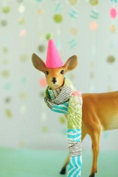 Gelati coloured Christmas - decorated deer.