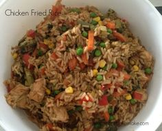 This easy Chicken Fried Rice is another recipe which helps clear out the vegetable crisper, and can also be frozen. Feel free to use whatever you have in your fridge, I used the below ingredients for the rice pictured. If you want to make it even healthier, use brown rice and omit the bacon. This is also a great meal for kids, you just need to cut everything up into smaller pieces. I then freeze leftovers into small containers for a quick and easy toddler meals