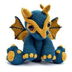 Amigurumi Dragon - Clancy Crochet pattern by Patchwork Moose Amigurumi Free, Crochet Amigurumi, Amigurumi Patterns, Crochet Dolls, Crochet Yarn, Crochet Animal Patterns, Stuffed Animal Patterns, Crochet Animals, Knitting Patterns