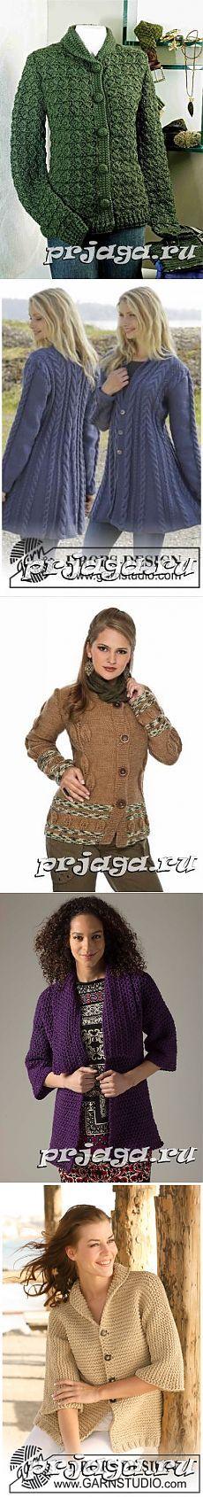 Женское пальто и кардиган спицами или крючком
