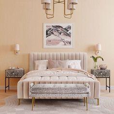 Glam Bedroom, Home Decor Bedroom, Feminine Bedroom, Pink And Beige Bedroom, Chic Bedroom Ideas, Pink Master Bedroom, Velvet Bedroom, Blush Bedroom, Shabby Bedroom