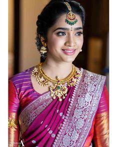 Effortlessly beautiful ❤️ #pralala . Photo by @studioa_weddings Makeup @chakrapu.madhu . #bridesofhyderabad #bride #bridalinspiration…