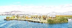201309250219e02wideipPSO - One of the #Uros #village #floatingislands in lake #Titicaca near #Puno #Peru. #holiday #travel