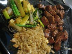 Benihana Copycat Recipes: Hibachi Steak W/ hibachi oil recipe. Steak and shrimp Hibachi Recipes, Grilling Recipes, Beef Recipes, Cooking Recipes, Healthy Recipes, Benihana Hibachi Shrimp Recipe, Japanese Hibachi Steak Recipe, Hibachi Fried Rice, Filet Mignon