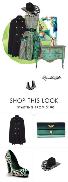 """Untitled #1048"" by ravenleeart ❤ liked on Polyvore featuring RED Valentino, Oscar de la Renta, Dolce&Gabbana, Shoes of Prey, vintage, DateNight, GREEN and valentinesday"