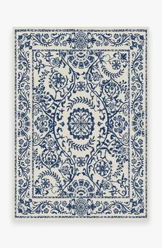 Delphina Delft Blue Rug [Sharing a few rugs options from Ruggable that you'll be able to toss in washer] Coral Rug, Navy Rug, Yellow Rug, Delft, Ancient Greek City, Black White Rug, White Rugs, Machine Washable Rugs, Washable Area Rugs