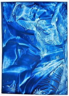 Abstract Fantasy Encaustic Art Print #encaustic #encausticart #abstract #abstractart #blueart #colourful #colourfulart #fantasy #fantasyart #fantasyworld