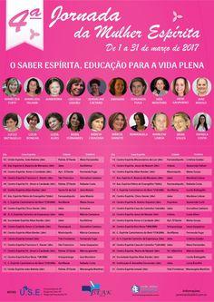 4ª Jornada da Mulher Espírita, SP - http://www.agendaespiritabrasil.com.br/2017/01/17/4a-jornada-da-mulher-espirita-sp/