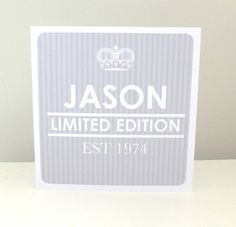 Personalised Mens 'Est' Birthday Card