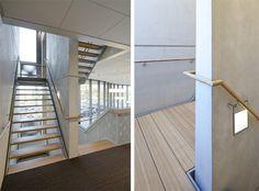 Architektenkombinatie Bos Hofman (Project) - Rabobank Etten-Leur - architectenweb.nl Stairs, Architecture, Interior, Home Decor, Arquitetura, Stairway, Decoration Home, Staircases, Room Decor