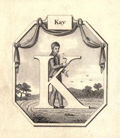 """Kay"" (K) ~ Vintage Children's ABC Flash Card"