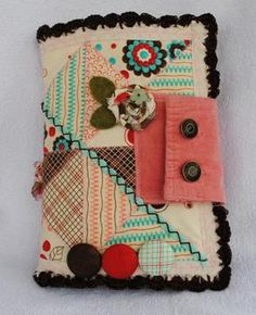 Pink and Brown Quilted Journal