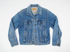 44 Levi's Jean Jacket L - Vintage Levis Jean Jacket Men's Large - 4 Pocket - 70506 0217- 80s Levis Denim Jacket- Made in USA- Jean Jacket 44