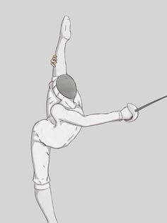 esgrima+ritmica ~ Why not, I have had a student do other dance steps while Fencing.