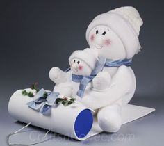 How to make sock snowmen on a sled