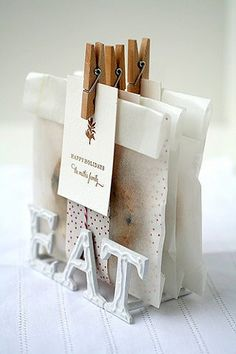 Home made treats gift packaging